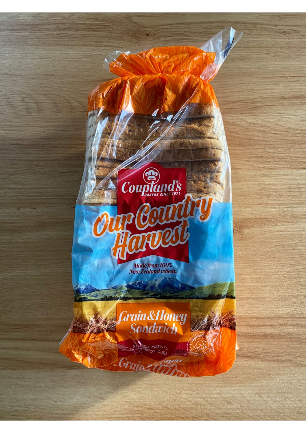 Couplands Our Country Harvest Grain & Honey Sandwich Bread 700g