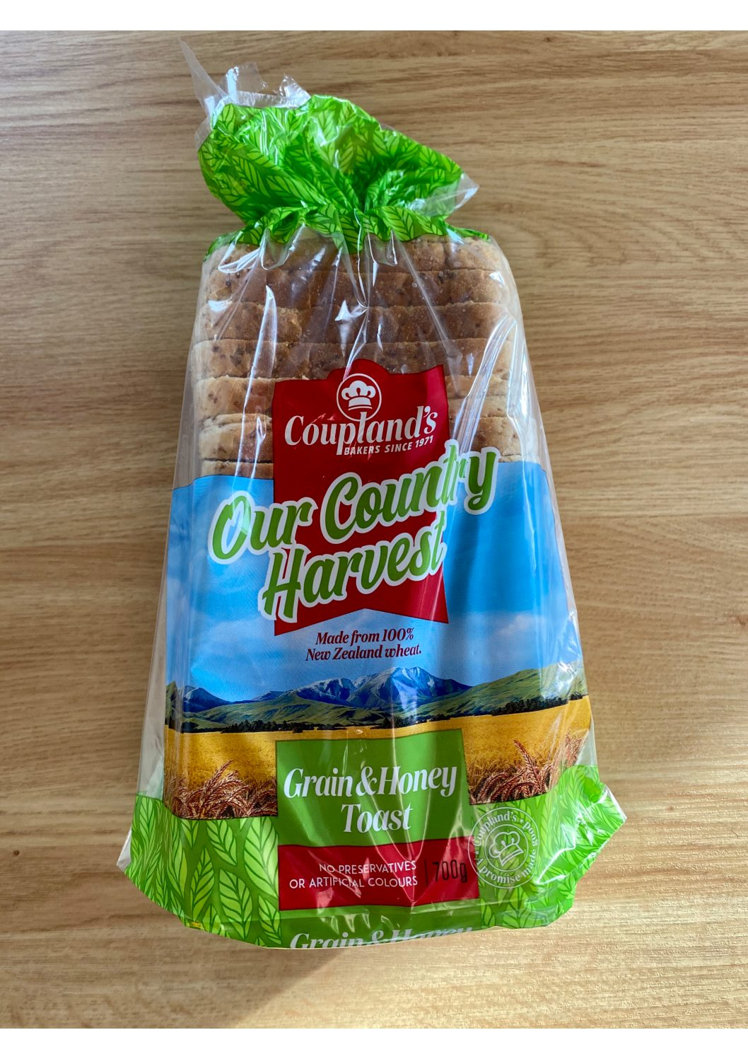 Couplands Our Country Harvest Grain & Honey Toast Bread 700g