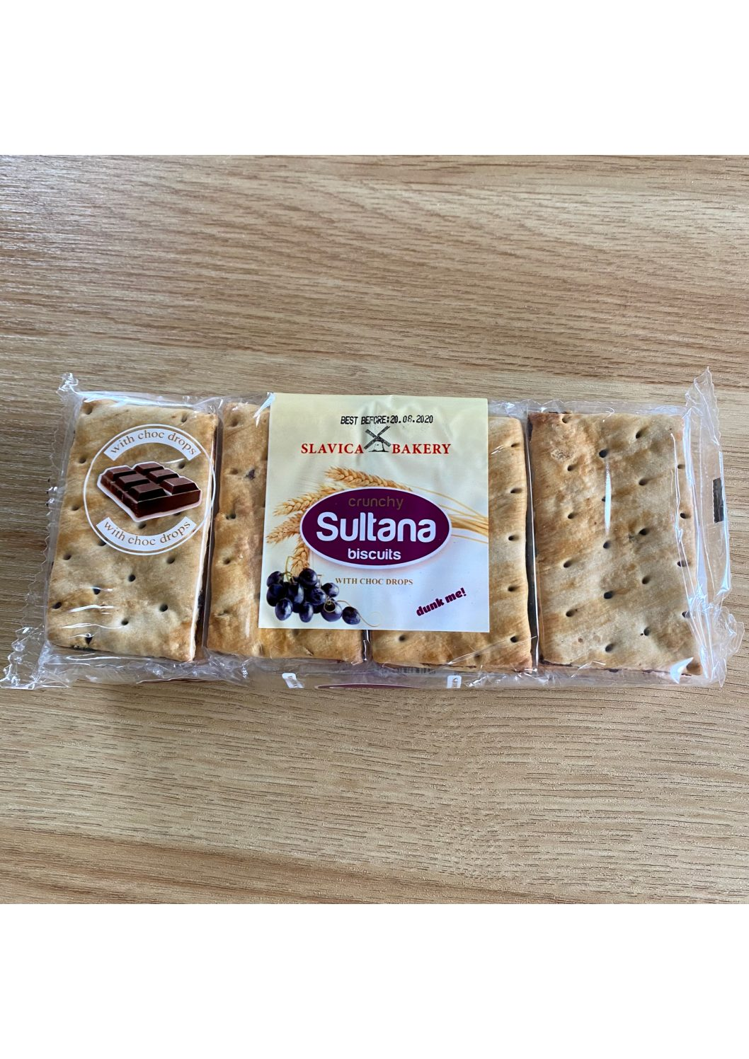 Slavica Bakery Sultana Biscuits with Chocolate Drops 270g